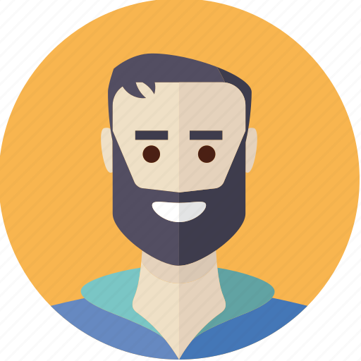 avatar, bearded, face, guy, male, man, person icon