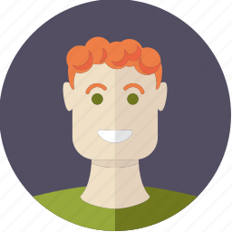 avatar, boy, face, male, person, red hair, young icon