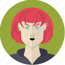 avatar, emo, face, girl, red hair, woman, young icon