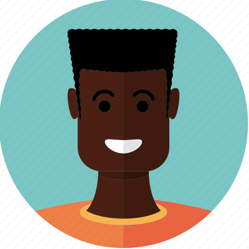 african, avatar, boy, face, guy, man, person icon