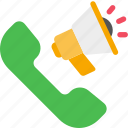 call, loudspeaker, marketing, phone, seo icon