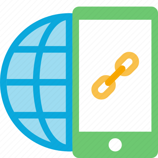 connection, globe, internet, link, online, seo icon