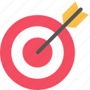 arrow, market, marketing, seo, target icon