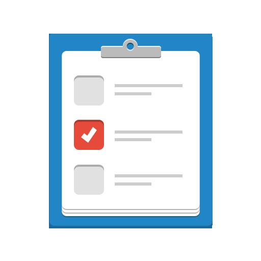 check, checklist, clip, clipboard, done, exam, memo, organizer, task, tasks, todo icon