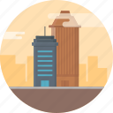 apartment, architecture, building, business, city, offfice, office tower icon