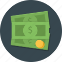 buck, business, cash, dollar, money, payment, payment icon icon