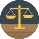 balance, justice, law, management, scale icon