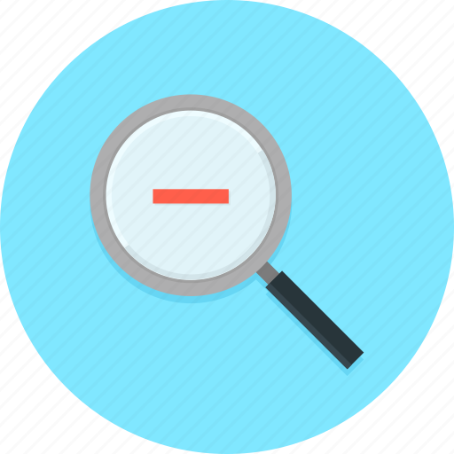 look up, magnifier, minus, search, zoom out icon