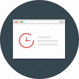 response, response time, time, web analytic, web monitoring icon