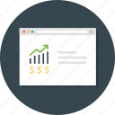 growth, revenue, web analytic, web monitoring icon