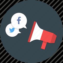 campaign, media, social, social media campaign, social media marketing, social media research icon