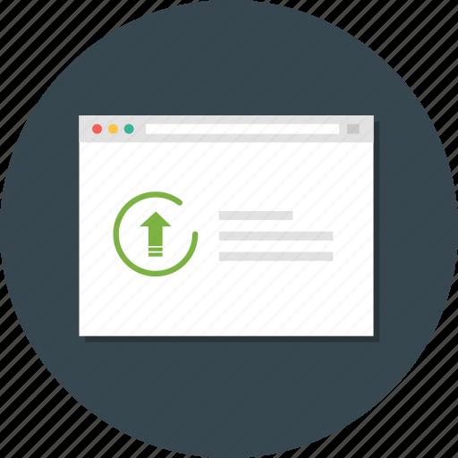 uptime, web monitoring, website analytic icon