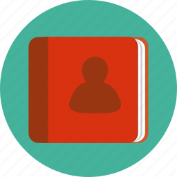 address, book, contact, mail, organizer, reminder, telephone icon
