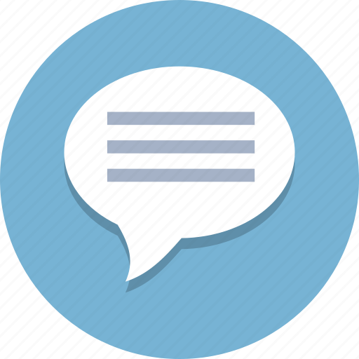 Chat, comment, message, messaging, social, speech, talk icon - Download on Iconfinder