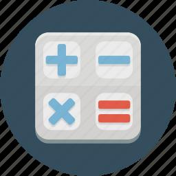 calc, calculator, financial, mathematics, multiply icon