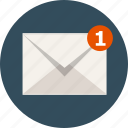 communication, e-mail, email, envelope, letter, message, new icon