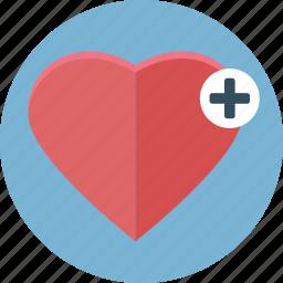 bookmark, cross, favorite, health, heart, like, love icon