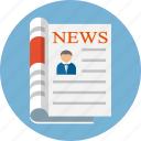 press, news, newsletter, media, newspapers, newspaper, paper icon