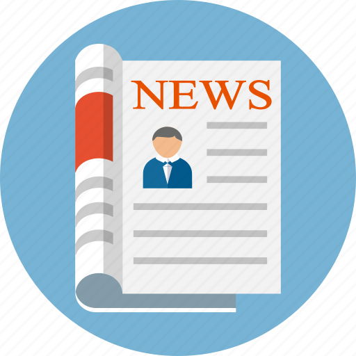 Media, news, newsletter, newspaper, newspapers, paper, press icon - Download on Iconfinder