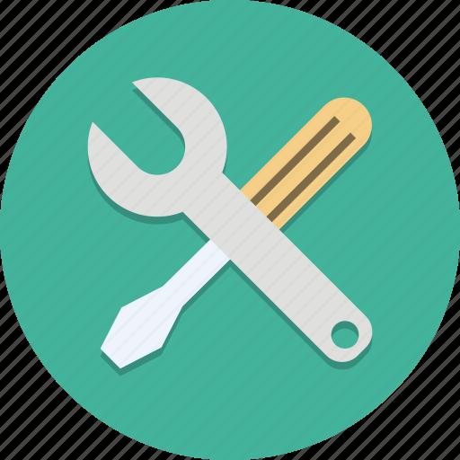 maintenance, menu, options, settings, tool, tools, wrench icon
