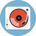 audio, disco, gramophone, music, sound, turntable, vinyl icon
