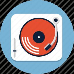 audio, disco, gramophone, music, sound, turntable, vinyl icon