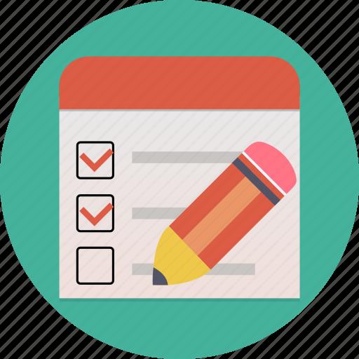 check, check-box, checklist, list, questionnaire, survey, voting icon
