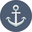 anchor, marine, nautical, port, sea, ship, travel icon