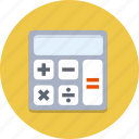 accounting, calculator, finance, math, mathematical, number, office icon