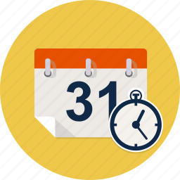 agenda, calendar, clock, date, event, time, timer icon