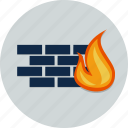 network, fire, firewall, flame, brick, security, wall