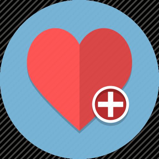 add, bookmark, cross, favorite, favourite, heart, love icon