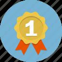 ribbon, certificate, label, badge, emblem, award, medal