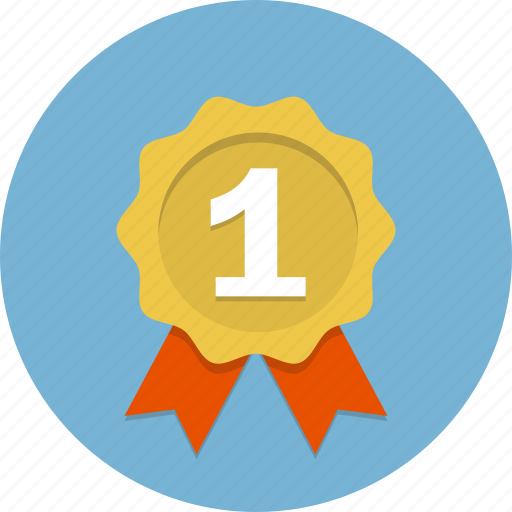 award, badge, certificate, emblem, label, medal, ribbon icon