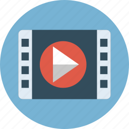film, media, movie, play, video icon