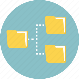 connection, data, data storage, database, folder, network, server icon