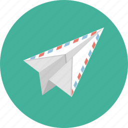contact, e-mail, email, mail, paper, paper plane, plane icon