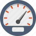 dashboard, gauge, measure, odometer, speed, speedometer icon