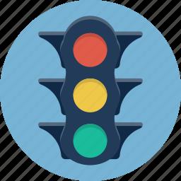 light, road, semaphore, stop, stoplight, traffic, traffic lights icon