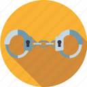 crime, equipment, handcuffs, justice, law, police icon