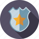 badge, crime, justice, law, shield, star