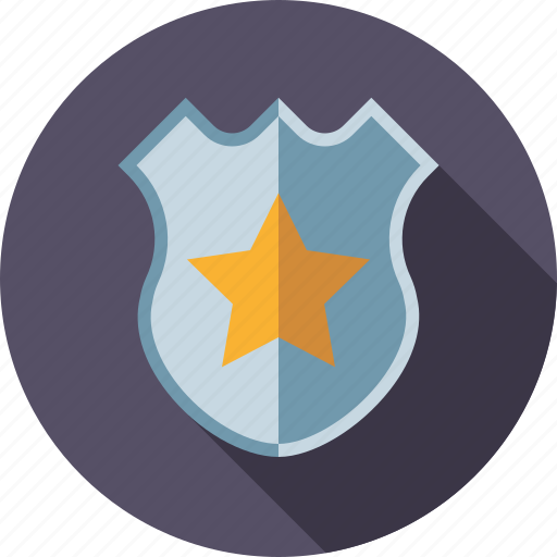 Badge, crime, justice, law, shield, star icon - Download on Iconfinder