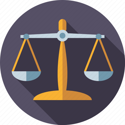 balance, crime, equilibrium, justice, law, scales, scales of justice icon