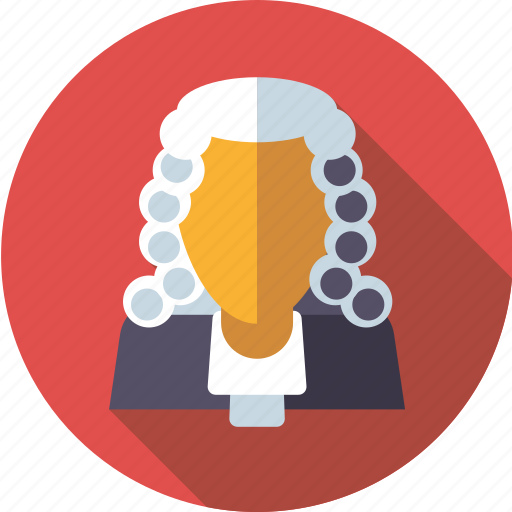 Crime, judge, jurisdiction, justice, law, occupation, wig icon - Download on Iconfinder