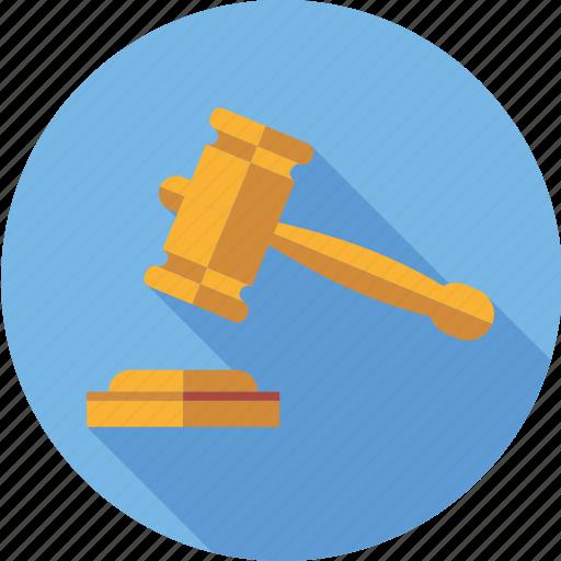 court, crime, gavel, judge, justice, law, verdict icon