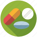 capsule, drugs, medicine, pharmaceutics, pill, tablet icon