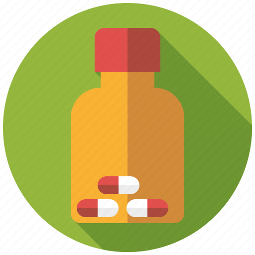 bottle, capsules, drugs, medicine, pharmaceutics icon