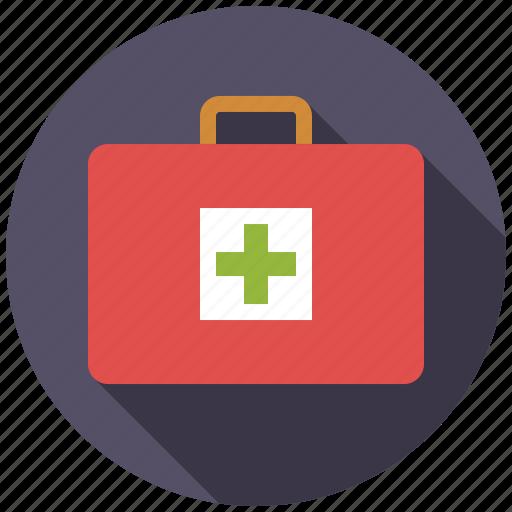 box, first aid kit, healthcare, medicine, pharmaceutics, suitcase icon