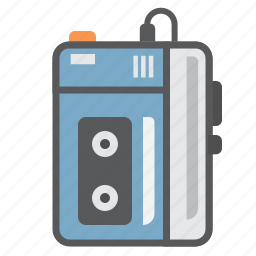 cassette, music, music player, sony, vintage, walkman icon