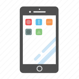 flat iphone, iphone, iphone 6, iphone 7, iphone apps, mobile apps icon